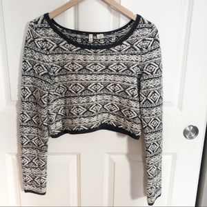 Anthropologie Moth Fairisle Crop Sweater